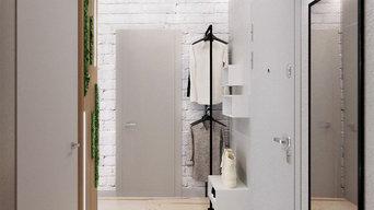 Квартира для молодой пары в скандинавском стиле