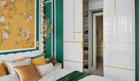 Проект недели: Спальня с проходной гардеробной и ванной комнатой