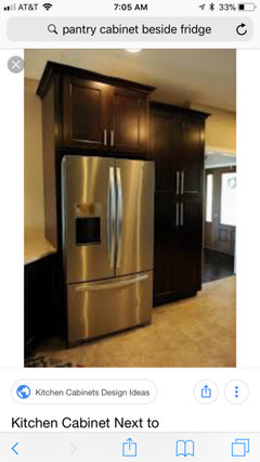 Pantry Cabinet Flush With Standard Fridge