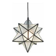 Industrial Moravian star textured glass chandelier,edison pendant light