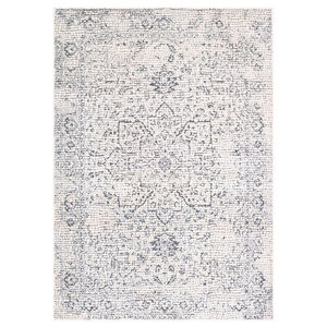 Venezia Area Rug in Medium Gray/Beige/Charcoal