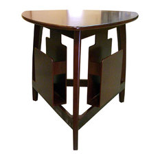 Ore International   Triangle Magazine Table, Cherry   Side Tables And End  Tables
