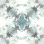 NuWallpaper - Nirvana Peel & Stick Wallpaper Bolt - A watercolor style softens this abstract kaleidoscope pattern, giving it a dreamy and enchanting look. The stunning teal, sea foam, and grey design is a statement-making accent for the modern home. Nirvana peel and stick wallpaper comes on one roll that measures 20.5 inches wide by 18 feet long. Abstract watercolor design. Peel and stick to apply, pull up to remove. NuWallpaper is safe for walls and leaves no sticky residue behind. Fix mistakes easily by repositioning. NuWallpaper sticks to any smooth, flat surface perfect for DIY projects. Ideal for rental or home decorating.