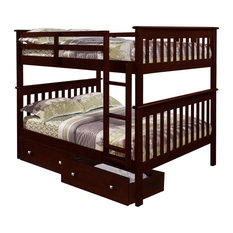Donco Trading Co - Full/Full Mission Bunk Bed, 123-3CP - Bunk Beds