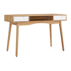 Linon Perry Wood Writing Desk in Brown