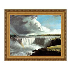 Western Branch of Niagara Falls, 1802 Canvas Replica Framed Painting, Large