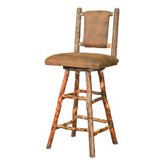 Fidel 30-inches Westville Swivel Bar Stool Hickory Twigs Stained