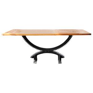 Oak Industrial Cog Dining Table