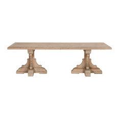 99-inch Smoke Gray Pine Rectangular Conference Table
