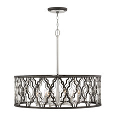Hinkley Portico Chandelier Large Open Frame Drum
