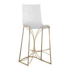gabby gabby angela acrylic bar stool gold bar stools and counter stools