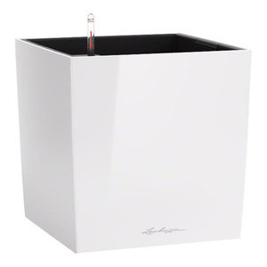 Cube Self Watering Planter, 50x50x50 CM, White