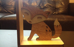 Wooden Fox Bookend by Ray Lynn Wood Shop