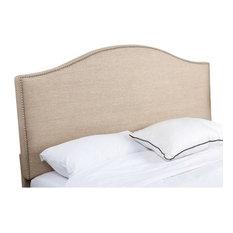 Abbyson Living Ranta Linen Upholstered Full Queen Headboard, Wheat