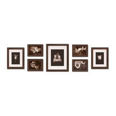 7-Piece Gallery Frame Set, Walnut