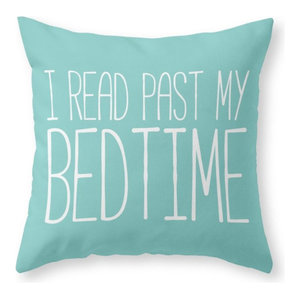 """I Read Past My Bedtime Throw Pillow Cover, 16""""x16"""" With Pillow Insert"""
