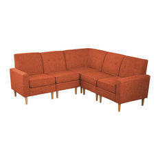 Shop Orange Sectional Sofas in Your Style | Houzz