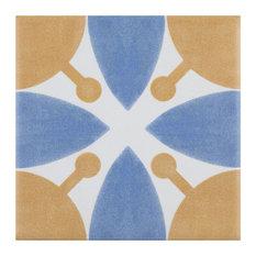 "SomerTile Revival Mini 4"" x 4"" Ceramic Floor and Wall Tile, Orange"