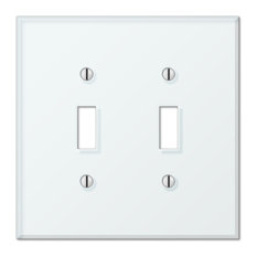 Glass Tile White Acrylic 2-Toggle Wall Plate