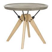 Farmond Modern Side Table in Dark Gray Finish