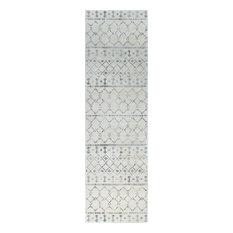 Ayden Transitional Geometric Cream Runner Rug, 2'x10'