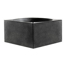 Pantheon Large Concrete Bathroom Sink, Anthracite, 40 cm