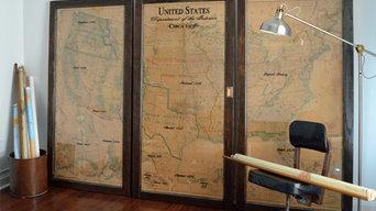 Vintage 1938 USA map - three piece set