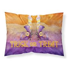 Halloween Trick Witches Feet Fabric Standard Pillowcase