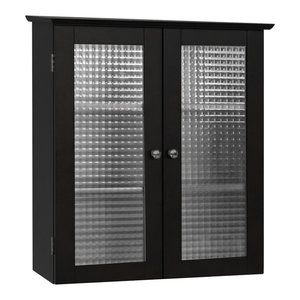 Elegant Home Fashions Chesterfield 2-Door Wall Cabinet, Espresso