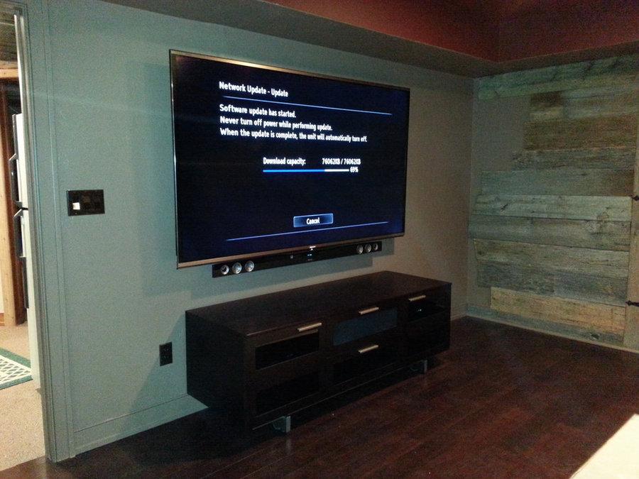 Basement Family Entertainment Room
