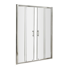 Pacific Double Sliding Shower Door, Polished Chrome, 1500 mm