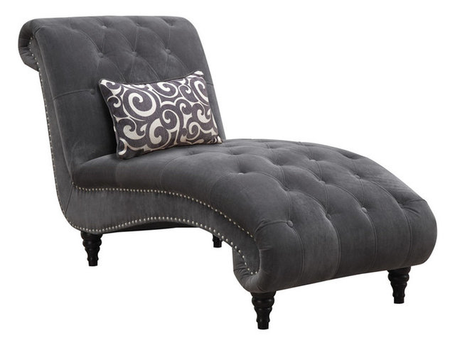 Superior Hutton II Chaise Nailhead With Kidney Pillow