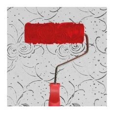 Embossed Paint Roller Wall Painting Runner Wall Decor DIY tool, Pattern 22