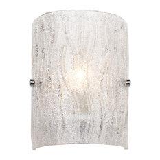 Brilliance 1-Light Bath Wall Sconce, Chrome