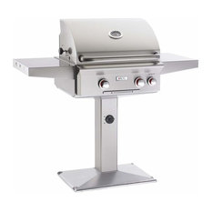 Fire Magic Grills - Robert H Peterson Company - Fire Magic E250s Electric Grill On Patio Post - Outdoor Grills