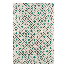 "Bungalow Bun-2 Green Rug, 7'6""x9'6"""