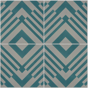 Origami Pattern Tiles, Marine, Set of 12