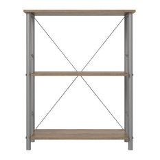 Devon 3 Shelf Bookcase, Rustic Oak
