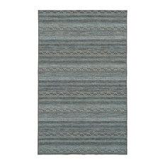 Zembra Island Indoor/Outdoor Boho Rug, Wave, 2'6x6'