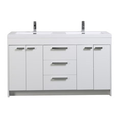 "Eviva Lugano 60"" White Vanity with Double Sink"
