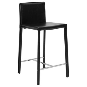 Crawford Counter Height Stool in Black Set of 2