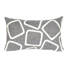Liora Manne Visions I Squares Silver Accent Pillow, 12  x20