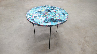 Poured table