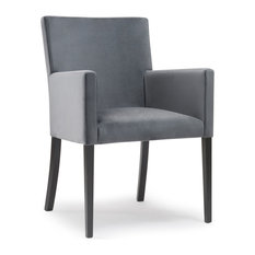 actuelle harris carver dining chair platinum gray black legs dining chairs - Dinette Chairs