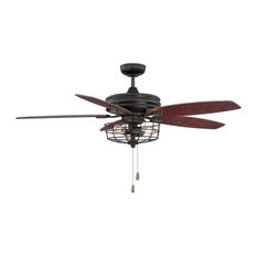 50 most popular industrial ceiling fans for 2018 houzz helmsman lighting works 52 ceiling fan with light ceiling fans aloadofball Choice Image