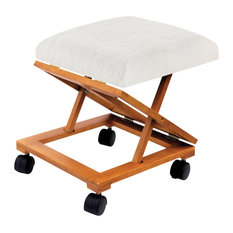 Support Plus Foldable Rolling Tapestry Footrest and Fleece Cover Kit