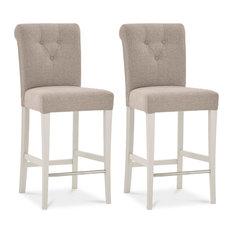 1st Avenue - Morris Roll Back Upholstered Counter Stools, Set of 2 - Bar Stools and Counter Stools