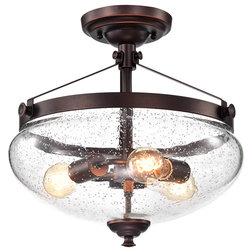 Industrial Flush-mount Ceiling Lighting by Edvivi LLC