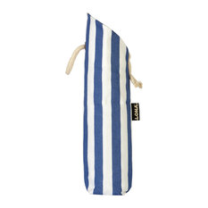 Striped Bottle Bag, Blue and White