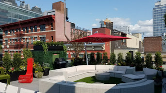 Manhattan, NYC Rooftop Garden Contemporary Roof Landscape Design by NY Plantings